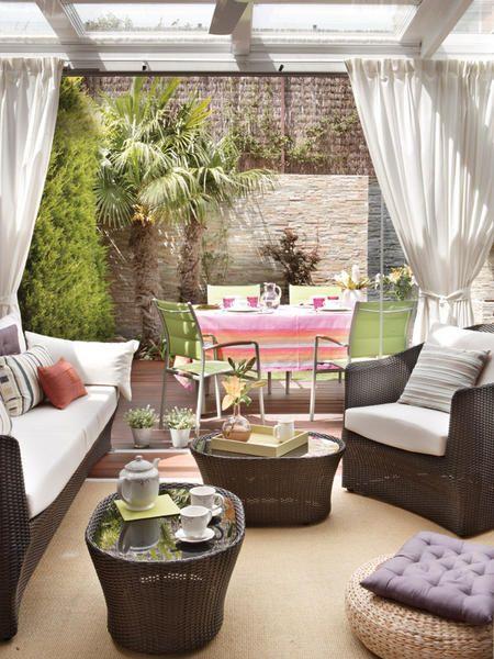 Cortinas para terrazas como organizar la casa fachadas for Cortinas para terrazas exteriores