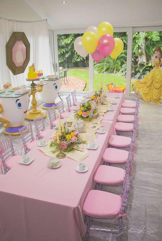 Decoracion para cumpleaños de niña de 4 años