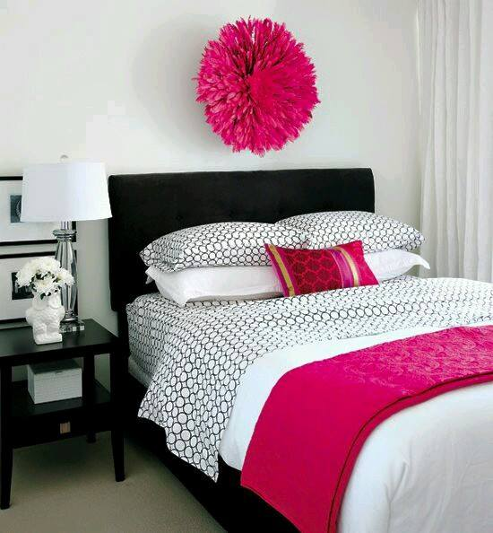 Pink Black And White Bedroom Designs Wall Art Ideas For Bedroom Bedroom Ceiling Designs 2013 Jack Wills Bedroom Wallpaper: Decoracion-recamara-rosa-fiusha