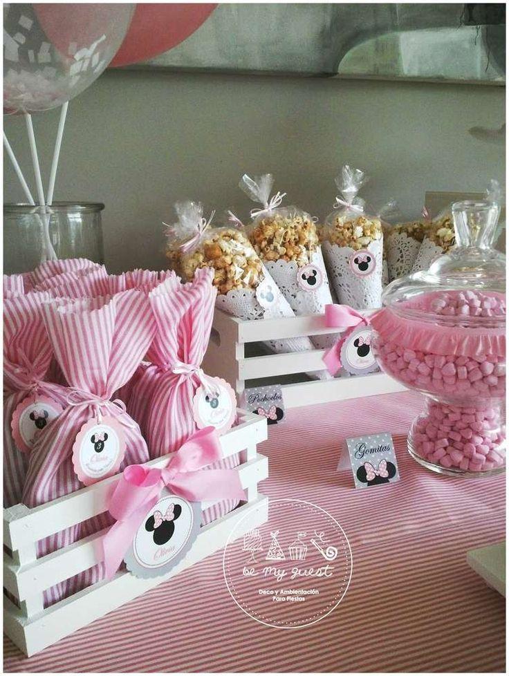 Mesa postres cumpleanos minnie - Decoracion fiesta rosa ...