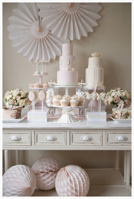 Ideas para mesa de postres decoracion de interiores for Quick and inexpensive wedding decorations