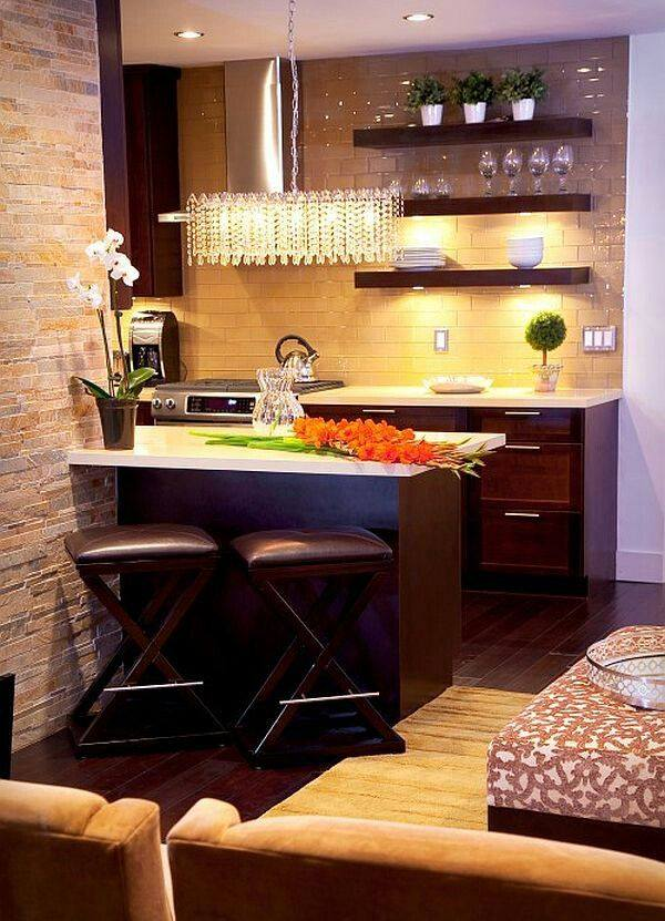 Ideas cocinas chicas decoracion de interiores fachadas - Ideas cocinas pequenas ...