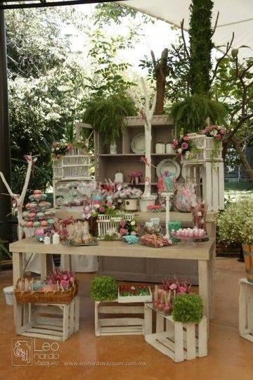 Habitacion Matrimonio Estilo Rustico : Ideas de como decorar tu mesa postres para fiesta xv