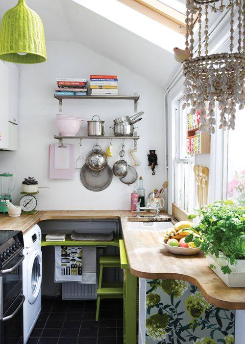 ideas-decorar-cocinas-pequenas-4 | Como Organizar la Casa | Fachadas ...