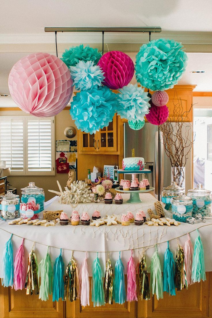 Ideas para decorar una fiesta del tema de la sirenita - Ideas para decorar con fotos ...