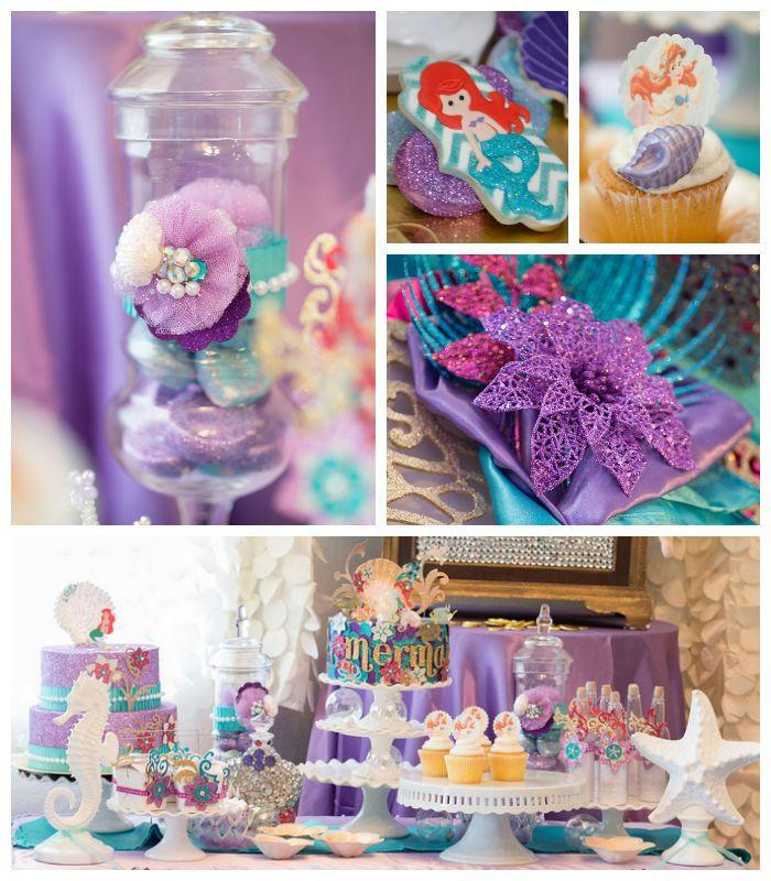 Fiesta del tema de la sirenita todo para tu fiesta for Decoracion cumpleanos nino 6 anos