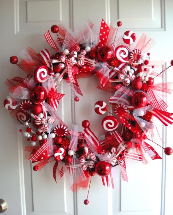 Decoraciones navideñas para la puerta