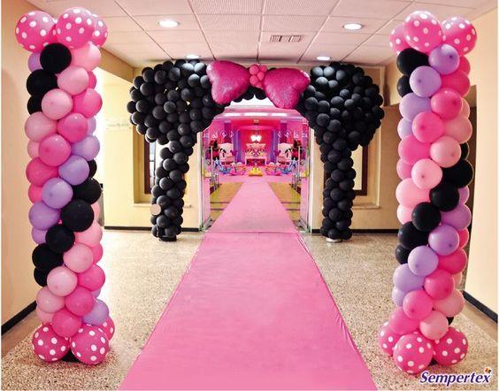 Ideas para fiesta de minnie mouse rosa y negro - Decoracion fiesta rosa ...