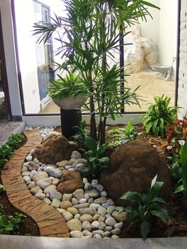 Ideas para jardines interiores 35 decoracion de for Decoracion jardin interior