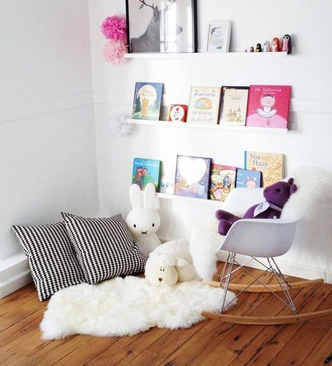 Ideas para organizar rincones de lectura como organizar for Idea de habitacion infantil