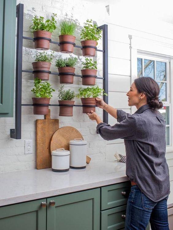Jard n de hierbas para la cocina huerta org nica en el hogar for Cocinas para jardin