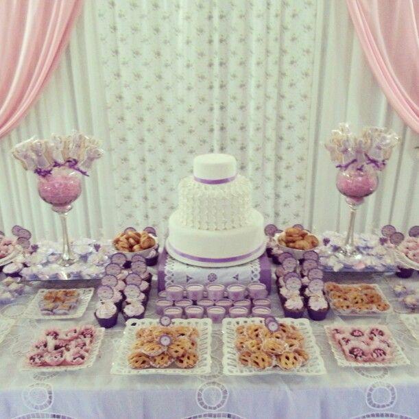 Mesa de pasteles primera comunion decoracion de - Mesas para comuniones ...