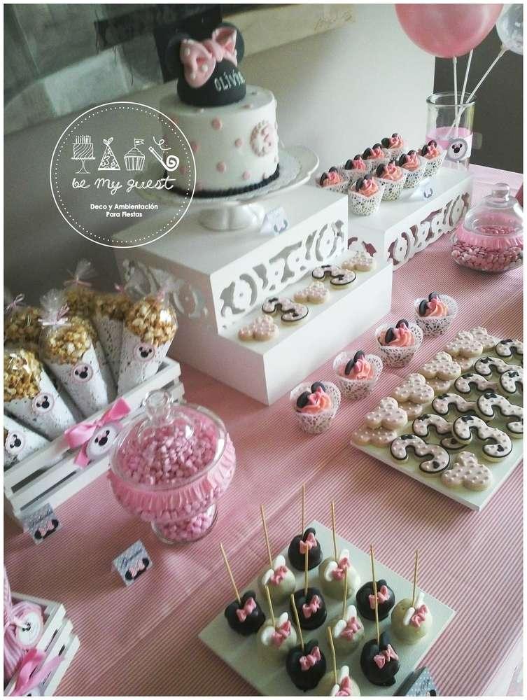 Mesa postres minnie mouse decoracion de interiores for Como decorar mesa de postres para baby shower