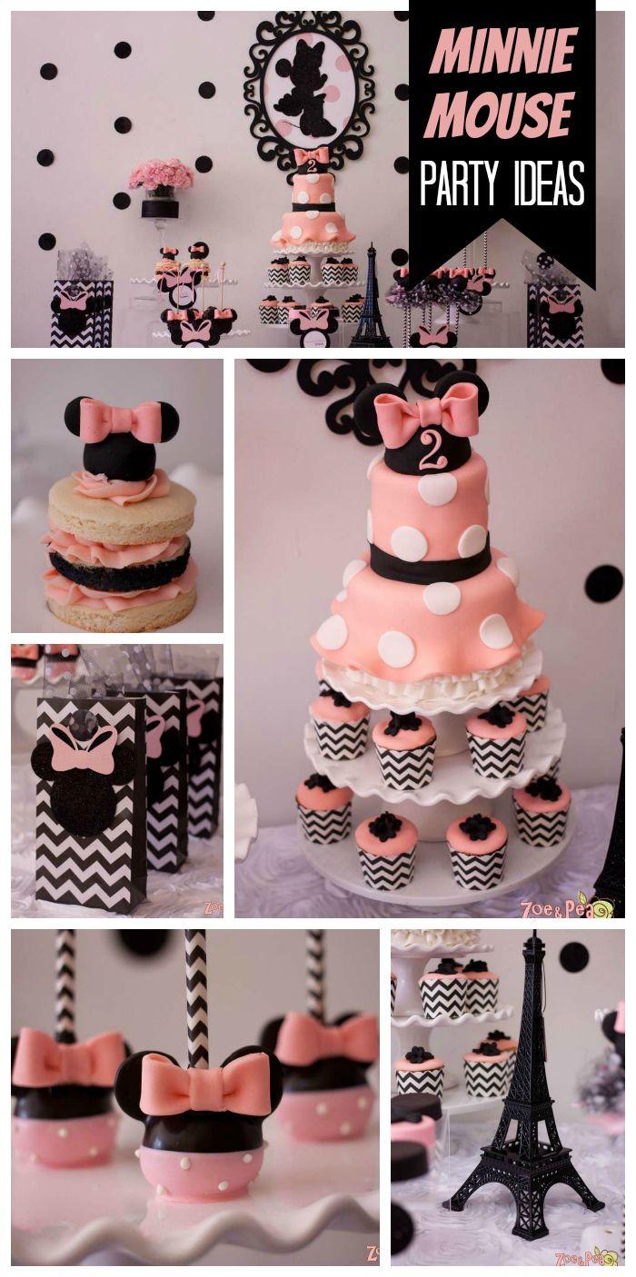 Ideas Para Fiesta De Minnie Mouse Rosa Y Negro Como