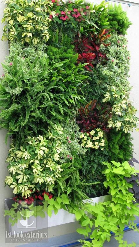 24 opciones para jardines verticales decoracion de - Jardin vertical en casa ...