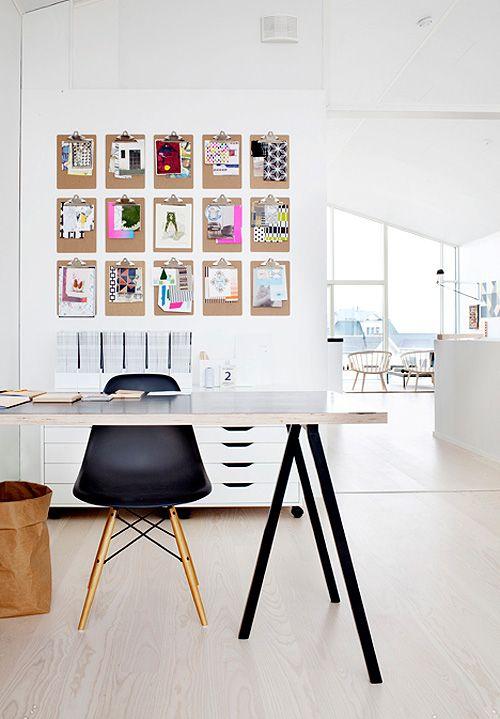 Organizar notas con carpetas en la pared