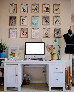 Organizar notas con carpetas en la paredOrganizar notas con carpetas en la pared