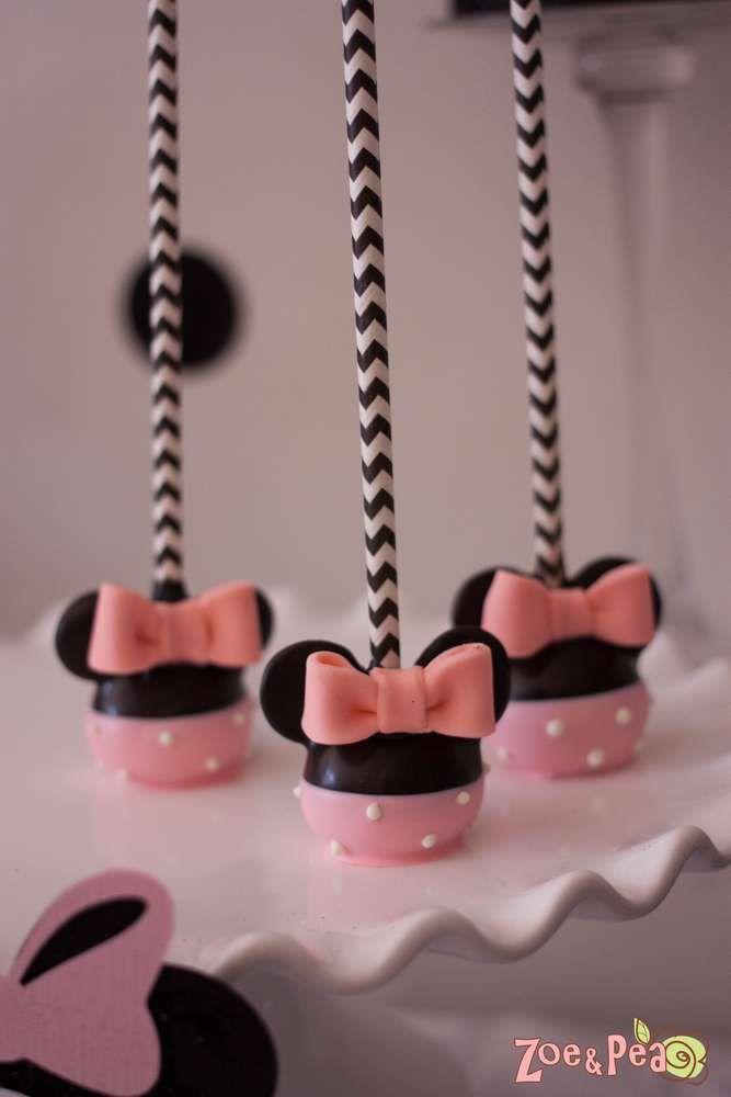 Ideas para fiesta de minnie mouse rosa y negro | Decoracion de ...