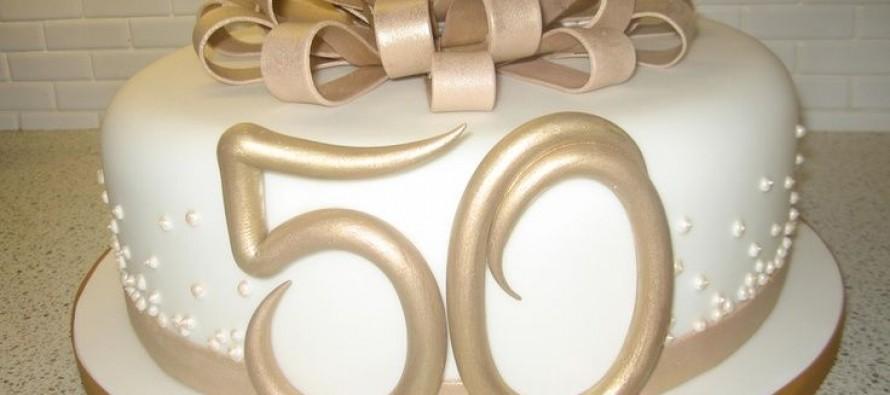 Decoracion de una fiesta de 50 Aniversario