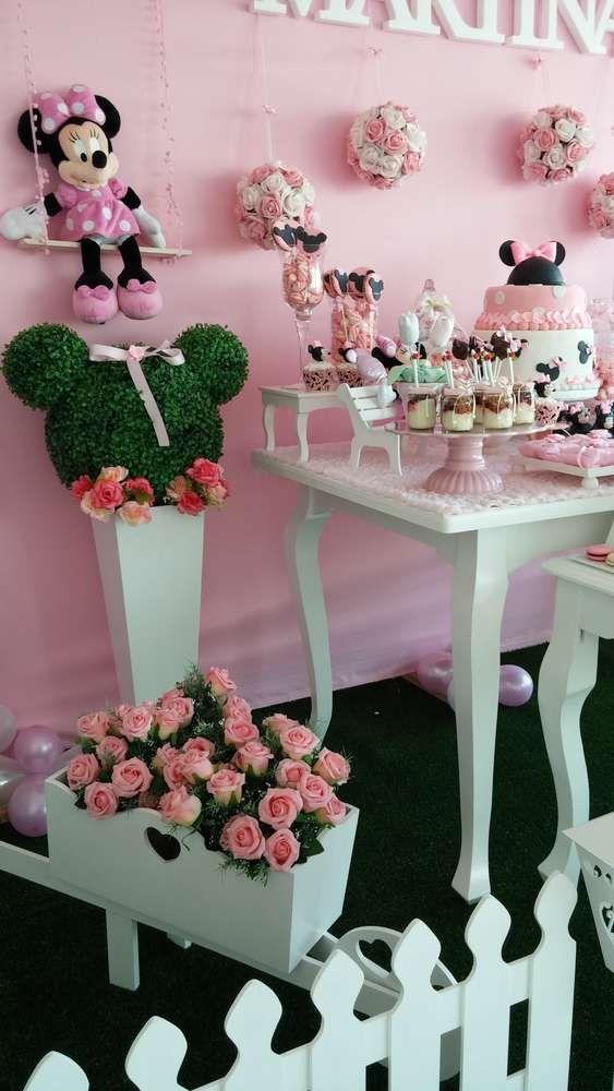 Pastel fiests de minnie decoracion de interiores - Decoracion fiesta rosa ...
