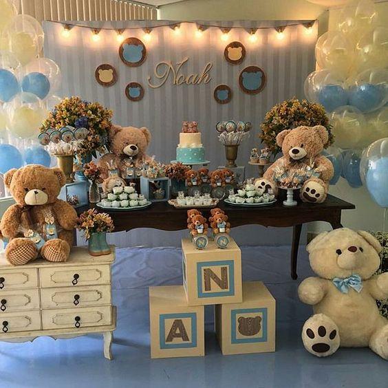 Baby shower para nino 5 decoracion de interiores - Organizar baby shower nino ...