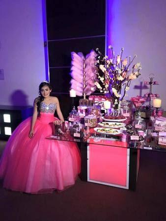 Como decorar una mesa de dulces para 15 anos (6)