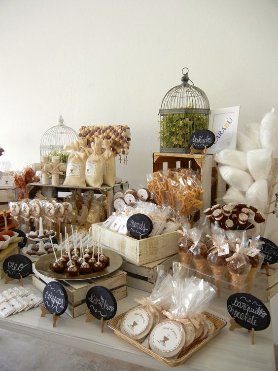 Ideas para decorar mesas de postres 11 como organizar for Ideas para decorar mesa de dulces
