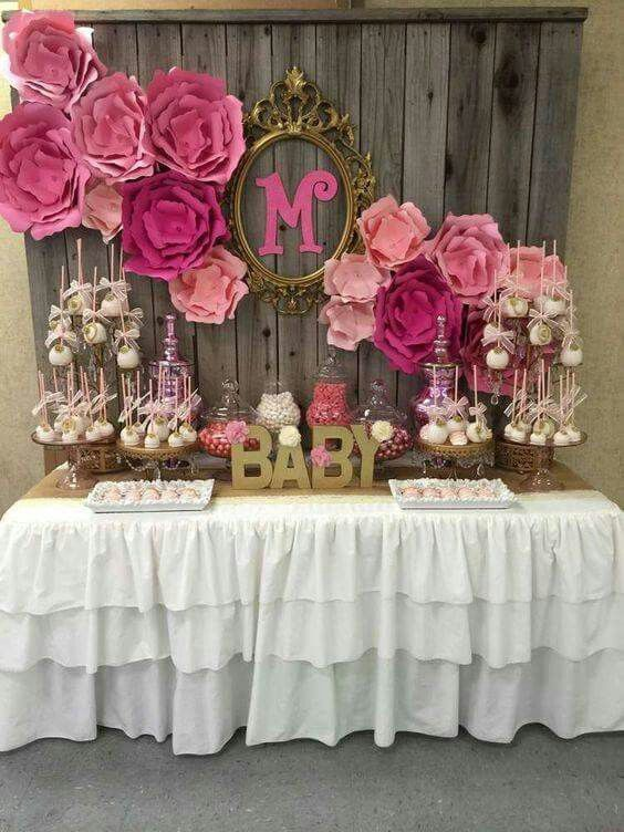 Ideas para decorar mesas de postres baby shower (1)