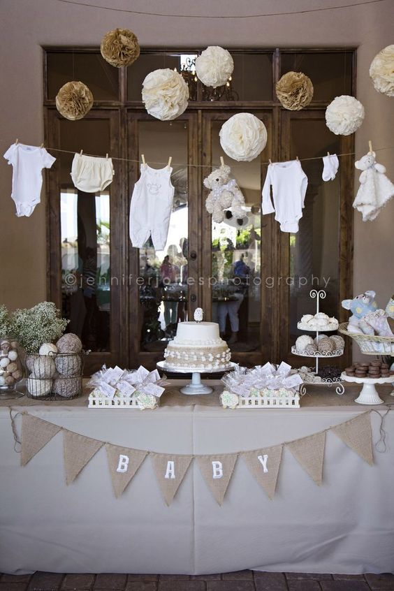Ideas para decorar mesas de postres baby shower (3)