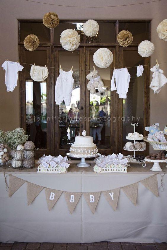 Ideas para decorar mesas de postres baby shower (3)