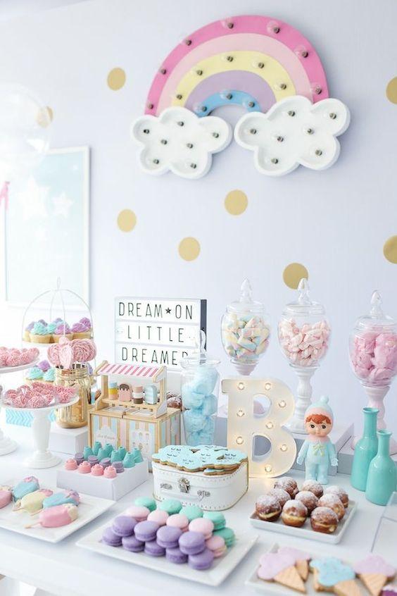Ideas para decorar mesas de postres baby shower 5 for Mesa de postres baby shower