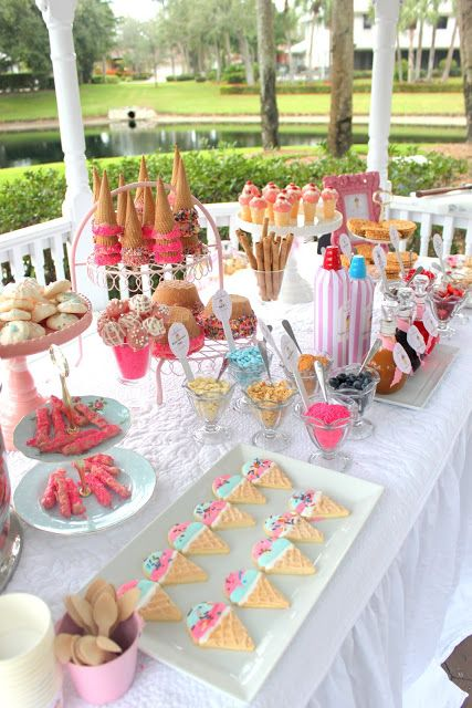 Ideas para decorar mesas de postres las mejores - Como hacer una fiesta infantil economica ...