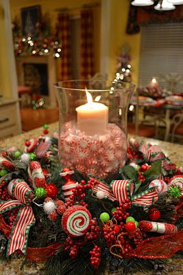 Decoraciones navide as 2016 para mesa for Imagenes de mesas navidenas
