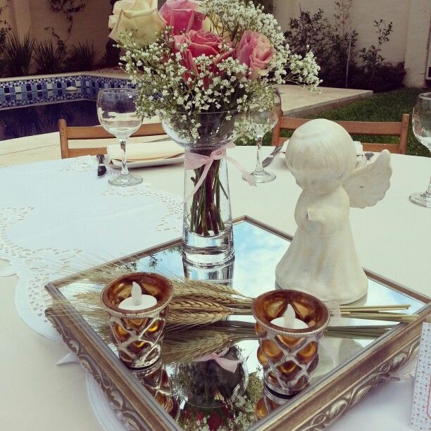 Decoracion de centros de mesa primera comunion for Decoracion comunion