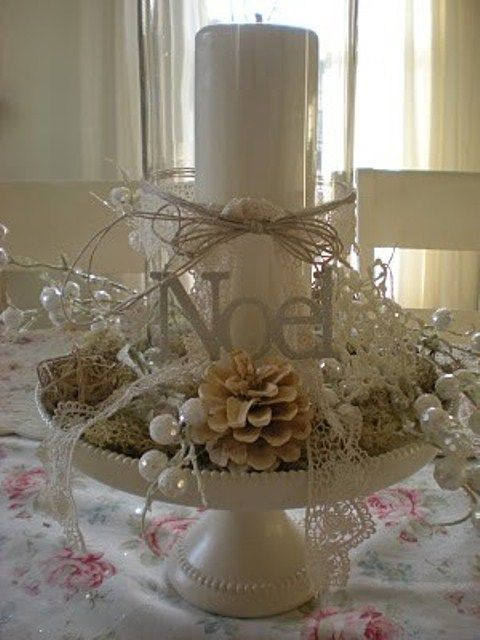 Ideas centros mesa navidad 15 decoracion de interiores for Ideas mesa navidad