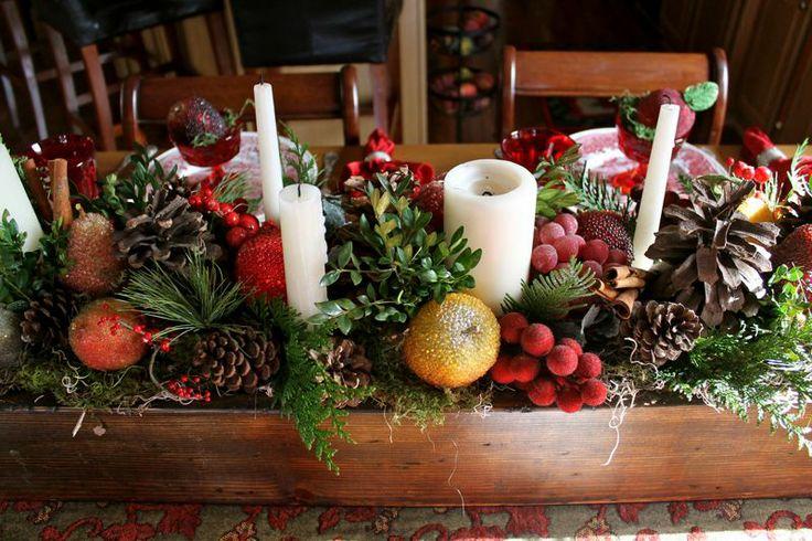 Ideas centros mesa navidad 41 decoracion de interiores for Centro mesa navidad