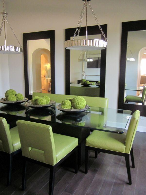 Ideas comedores con espejos decoracion de interiores for Espejos grandes para comedor