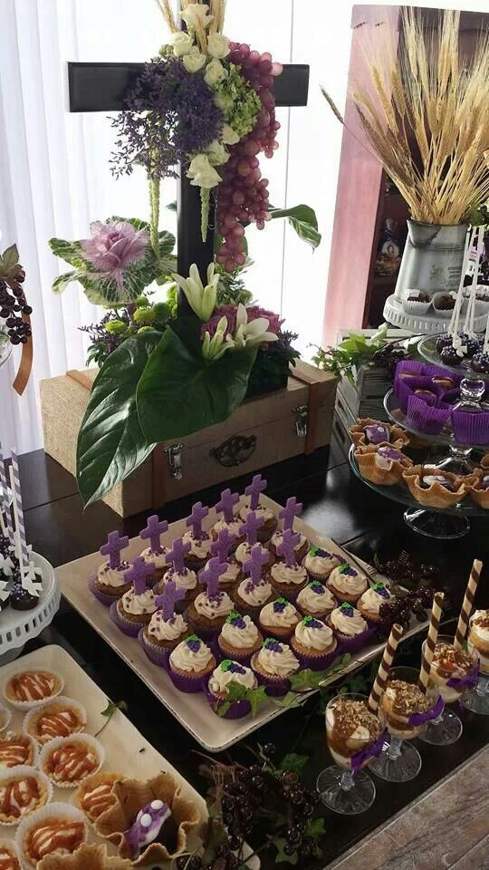 Mesa para postre primera comunion - Ideas para mesas dulces de comunion ...