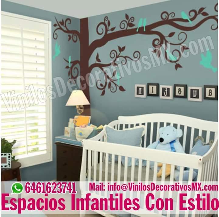 Vinilos decorativos infantiles decoracion de interiores - Vinilos infantiles arboles ...