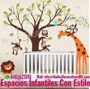 vinilos-infantiles-animales-de-selva
