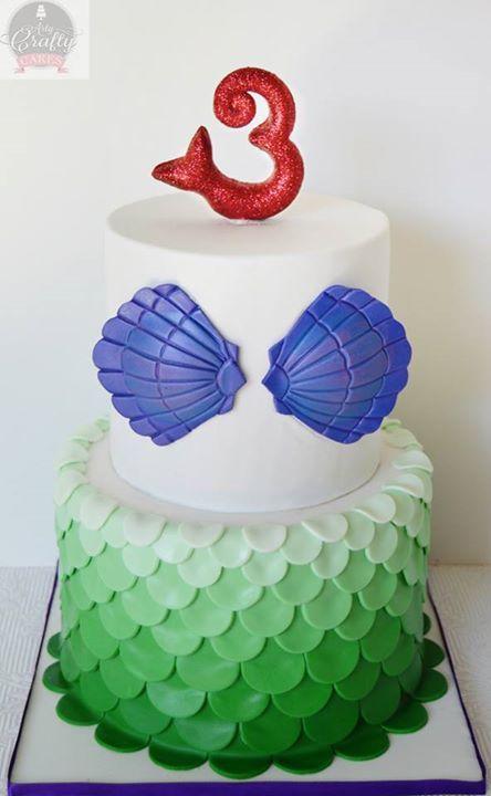 Diseños de pasteles de la sirenita