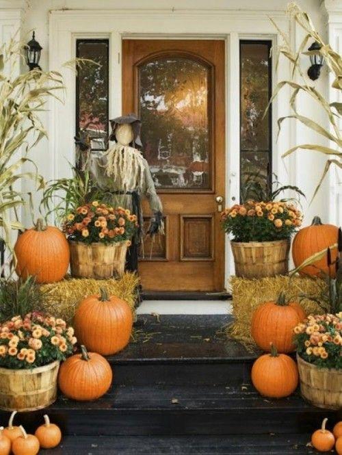 Como decorar la puerta en día de acción de gracias