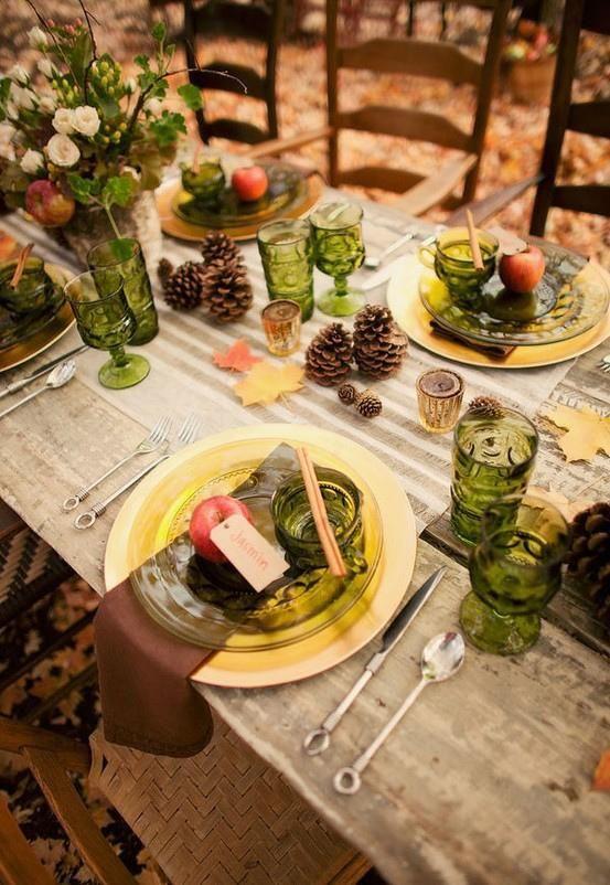 decoracion mesa acción de gracias