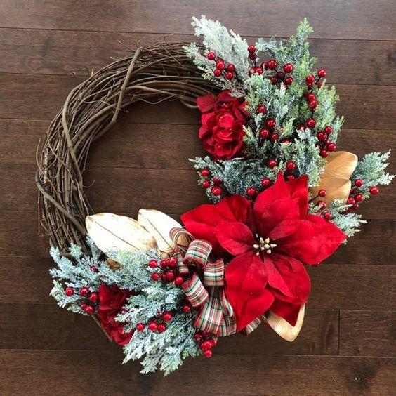 Ideas paso a paso para decorar la puerta para esta navidad diy - Adornos para puertas ...