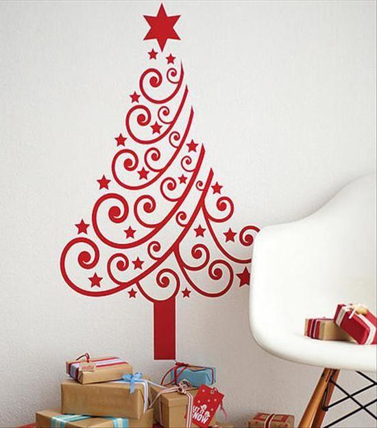 Arbol navide o de vinil y curvas decoracion de - Decoracion de arboles navidenos para ninos ...
