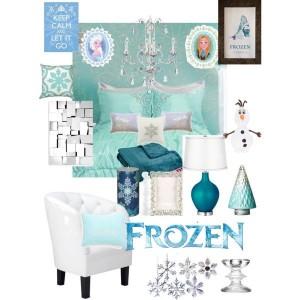 Decoracion de Recamara de Frozen