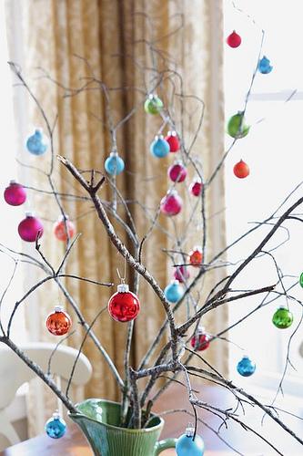 Idea de arbol de navidad decorativo ramas esferas - Ramas de arbol para decoracion ...