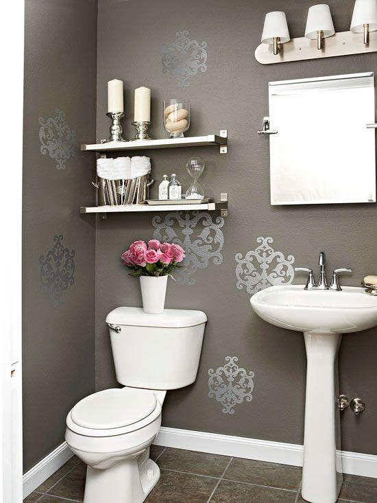 Decorar ba o gris blanco - Como decorar el bano ...