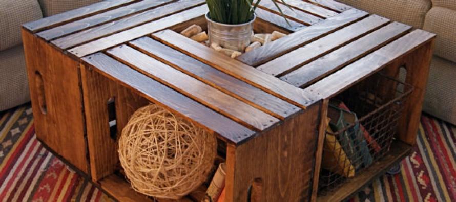 Cajas de madera, reutilizar y decorar