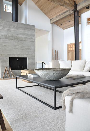 Idea Para Decorar Sala En Color Gris Blanco Y Madera Como